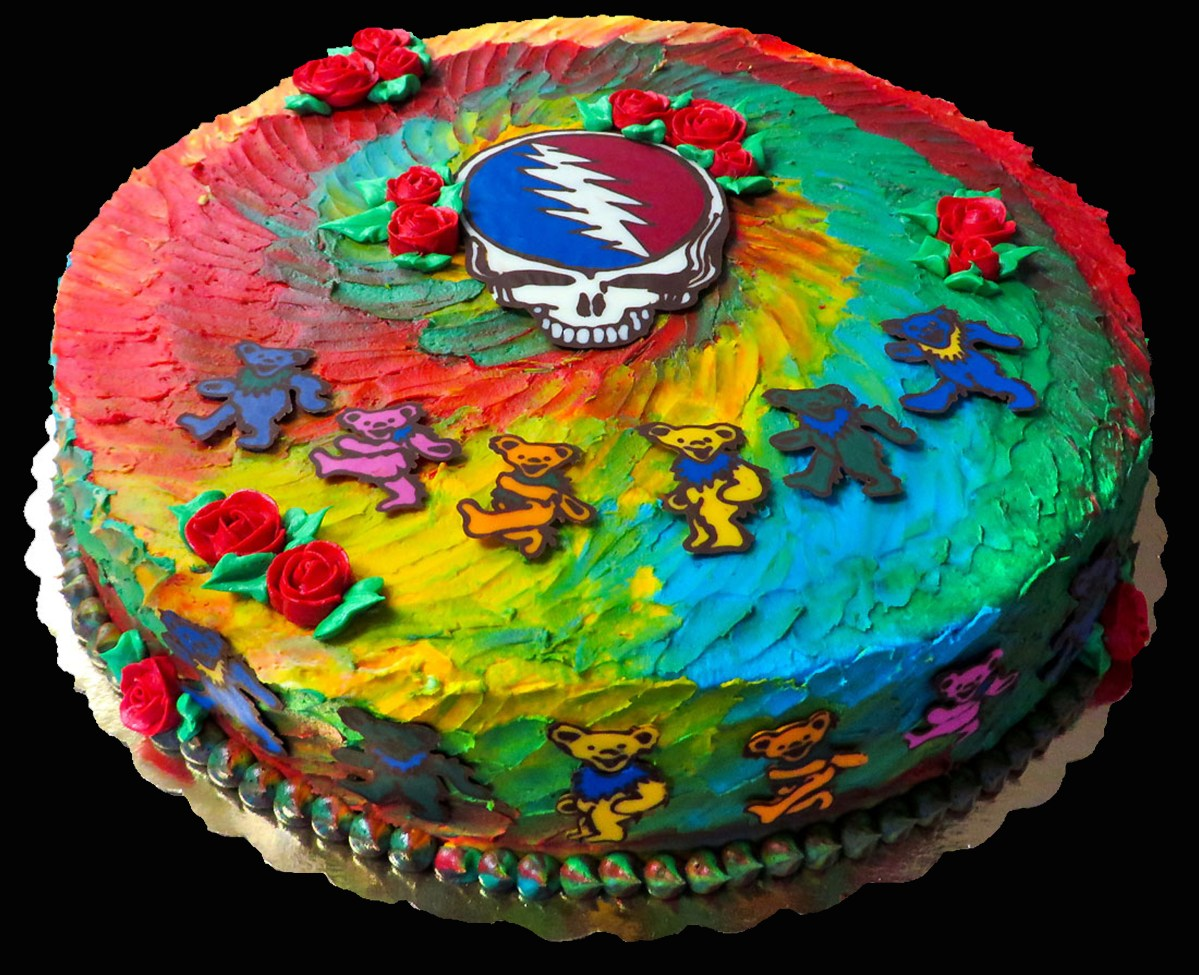 Grateful Dead Birthday Cake Grateful Dead Cake Sweet Somethings Desserts