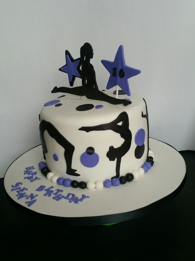Gymnastics Birthday Cake Acrobats And Gymnastics Birthday Cake Birthday Party Pinterest
