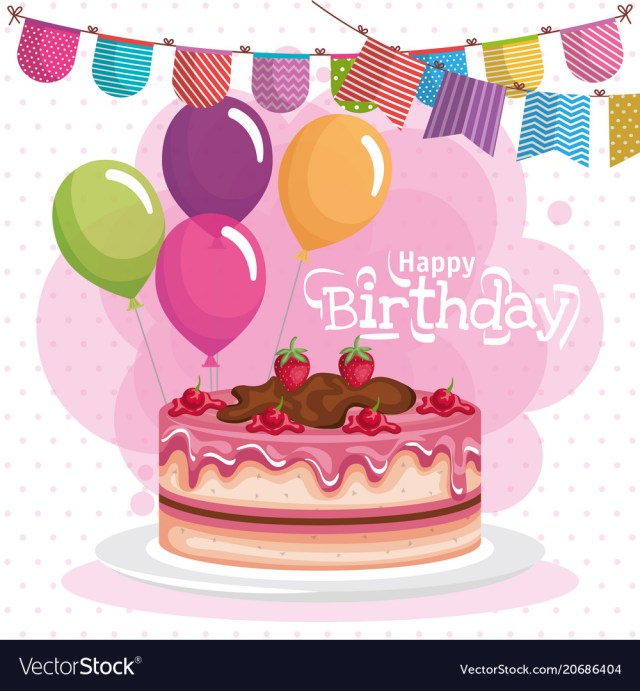 Happy Birthday Cakes Pictures Happy Birthday Cake Celebration Card Royalty Free Vector