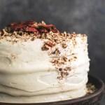 Happy Birthday Carol Cake Worlds Best Carrot Cake With Cream Cheese Frosting Creme De La Crumb