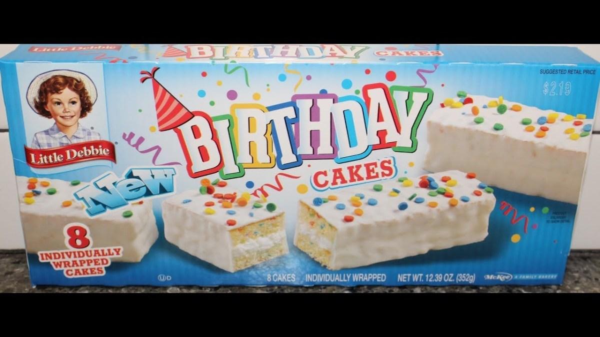 Happy Birthday Debbie Cake Little Debbie Birthday Cakes Snack Cakes Review Youtube
