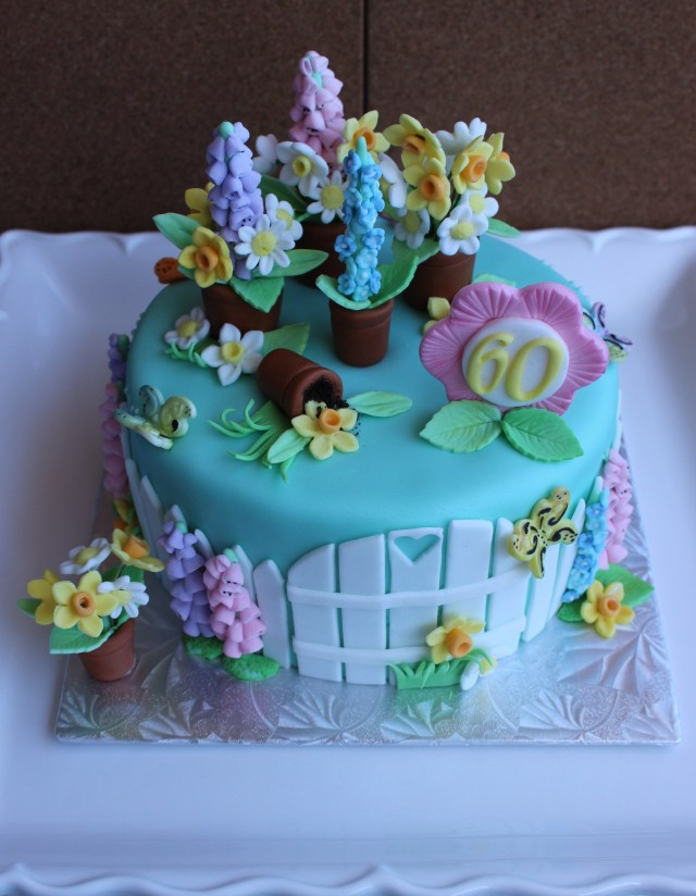 Happy Birthday Flowers And Cake Alovelyspringcake Ahappybirthdayspringflowercakefora