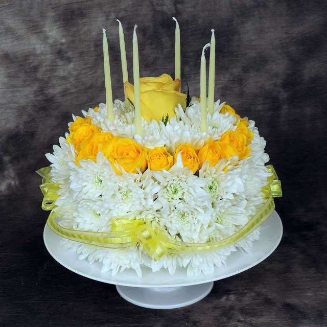 Happy Birthday Flowers And Cake Floral Birthday Cake Kremp