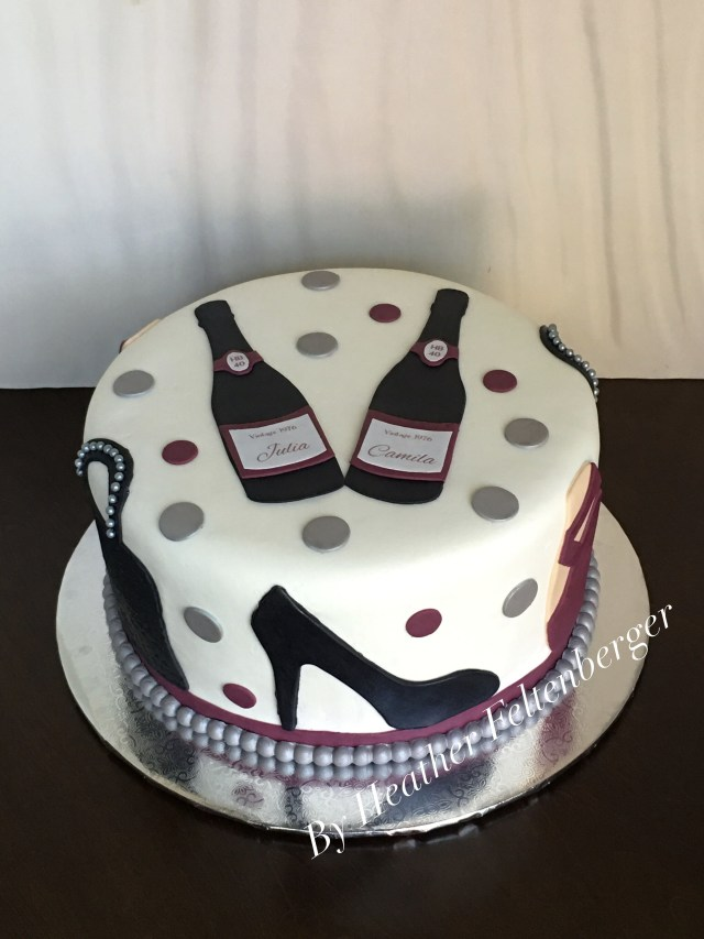 High Heel Birthday Cake Wine Fashion Heels Purses Ballet Slipppers Adult Woman