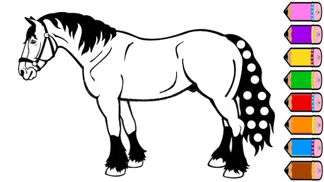 Horse Coloring Page Horse Coloring Pages Drawing For Kids Youtube Videos For