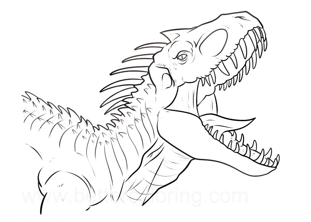 Jurassic World Coloring Pages 1533262409 Indominus Rex