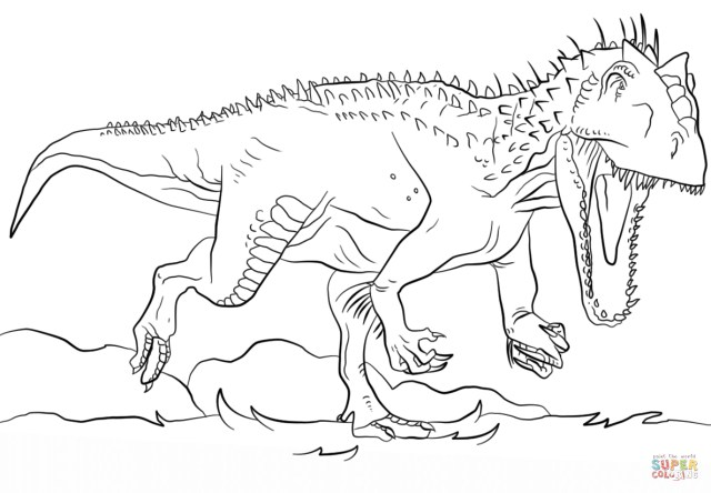 Jurassic World Coloring Pages Jurassic Park Indominus Rex Coloring Page Free Printable Coloring