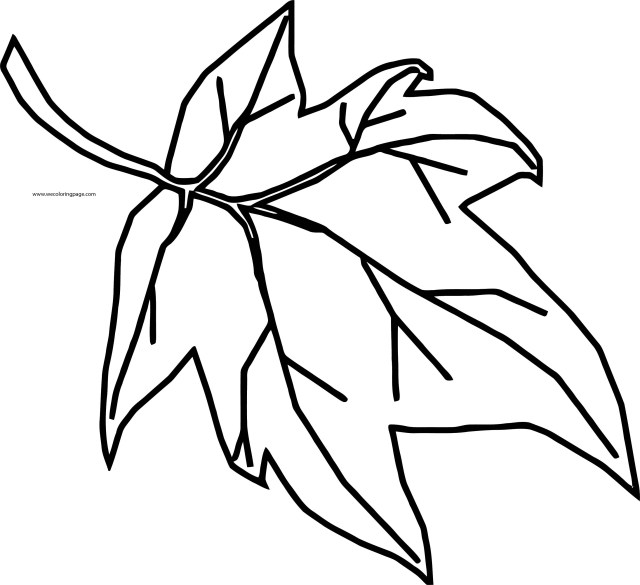 Leaf Coloring Page Fall Cute Leaf Coloring Page Wecoloringpage