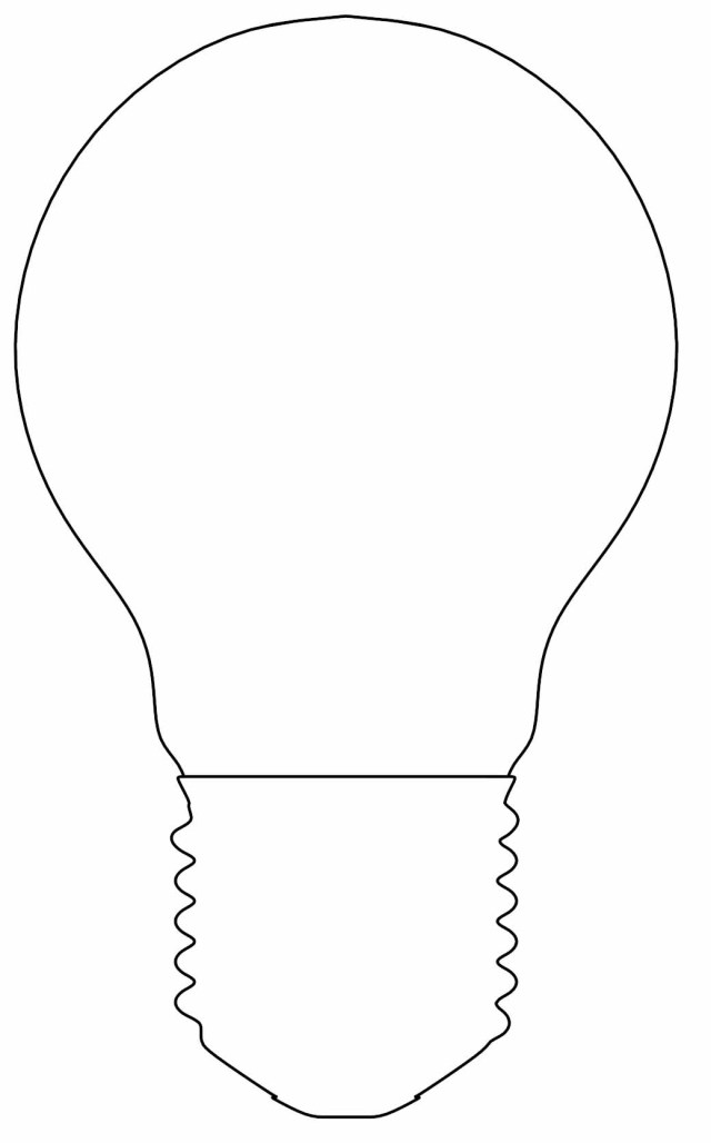 Light Bulb Coloring Page Incandescent Glass Light Bulb Outline Coloring Page Wecoloringpage