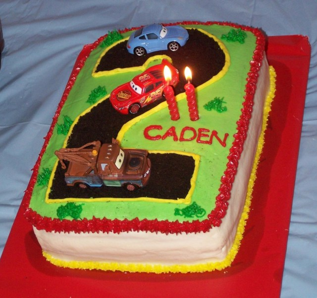 Lightning Mcqueen Birthday Cake Lightning Mcqueen 2nd Birthday Cake All Buttercream With Crushed