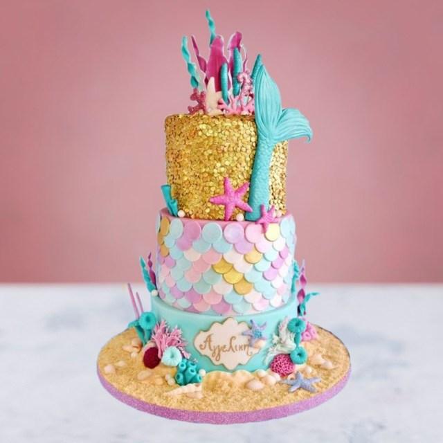 Mermaid Birthday Cake Little Mermaid Birthday Cake