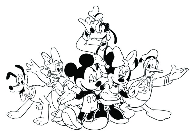 Mickey Coloring Pages Free Coloring Pages Mickey Mouse And Friends For Boys Disney Mickey