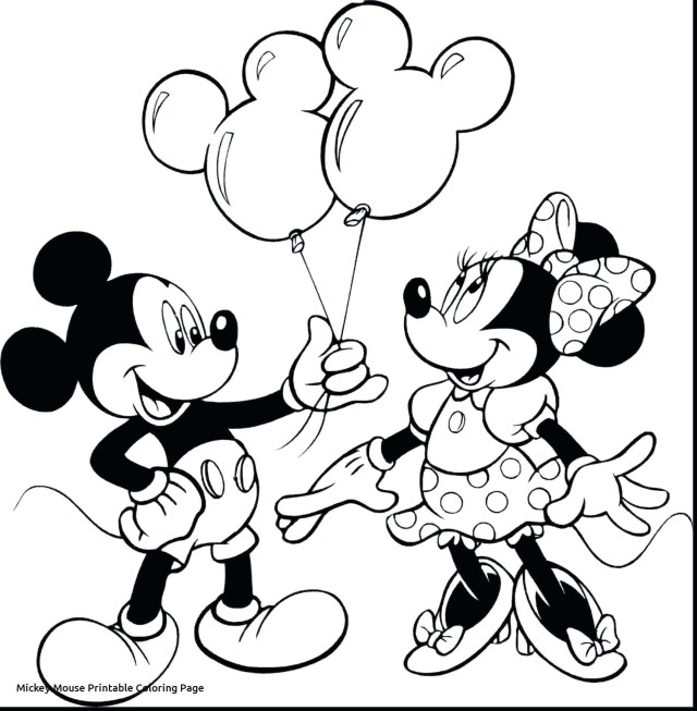 Mickey Coloring Pages Minnie Mickey Coloring Pages Mouse Christmas Printable Of