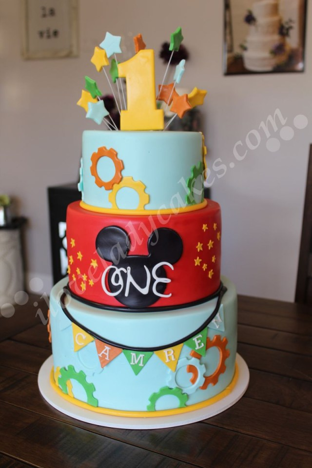 Mickey Mouse 1St Birthday Cake Mickey Mouse 1st Birthday Cake Ladycakes Bakery
