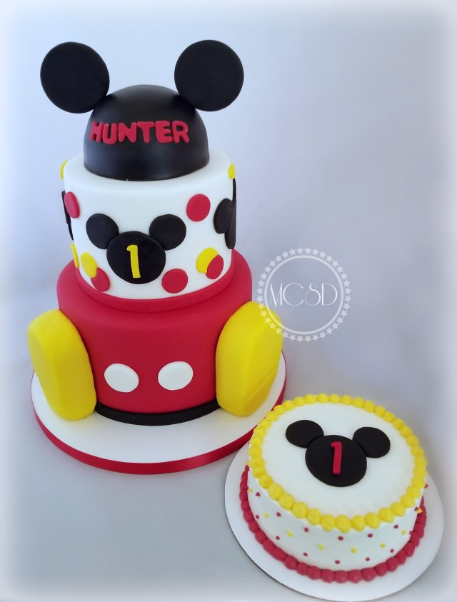 Mickey Mouse 1St Birthday Cake Mickey Mouse 1st Birthday Cake Nicko Mickey Pinterest