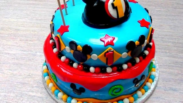 Mickey Mouse 1St Birthday Cake The Cake Don The Mickey Mouse 1st Birthday Cake Youtube