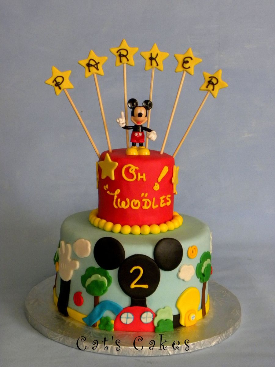 Mickey Mouse Clubhouse Birthday Cake Mickey Mouse Clubhouse 2nd Birthday Cake Lemon Chiffon Cake With
