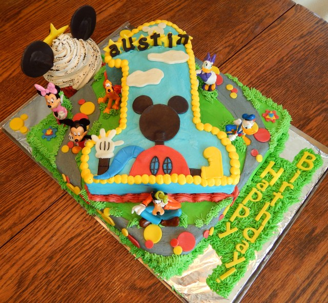 Mickey Mouse Clubhouse Birthday Cake Mickey Mouse Clubhouse First Birthday Cake Cakecentral
