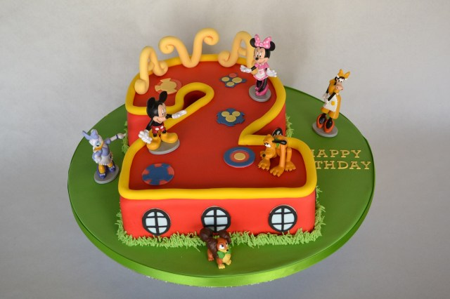 Mickey Mouse Clubhouse Birthday Cake Number 2 Mickey Mouse Clubhouse Cake Celebration Cakes Cakeology