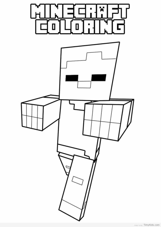 Mine Craft Coloring Pages Minecraft Coloring Pages Timykids