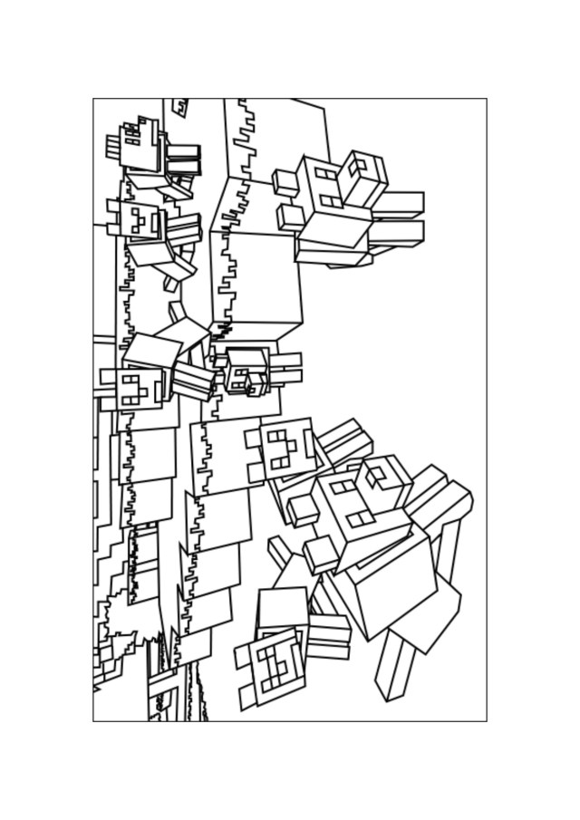 Mine Craft Coloring Pages Wolves 1 At Printable Minecraft Coloring Pages Coloring Pages For
