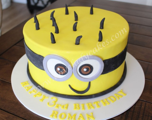 Minion Birthday Cake Minion Birthday Cake Ladycakes Bakery