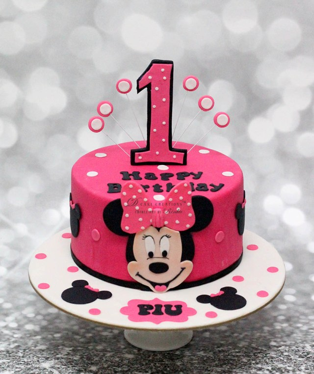 Minnie Mouse Cakes 1St Birthday Customised Cakes For Girls The Best In Mumbai And Pune