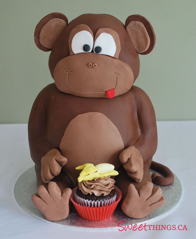 Monkey Birthday Cake Sweetthings 1st Birthday Cake Sweet Monkey Cake
