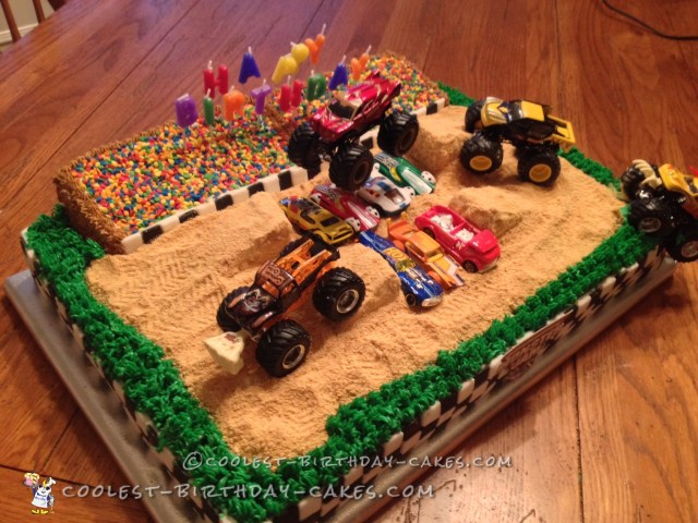 Monster Truck Birthday Cake Cool Homemade Monster Jam Birthday Cake