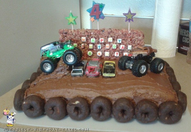 Monster Truck Birthday Cake Monster Truck Birthday Cake In 2018 Monster Truck Bday Pinterest