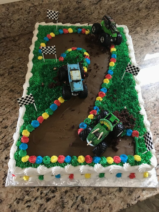 Monster Truck Birthday Cake Monster Truck Cake 2nd Birthday Grace Ful Cakes Flickr