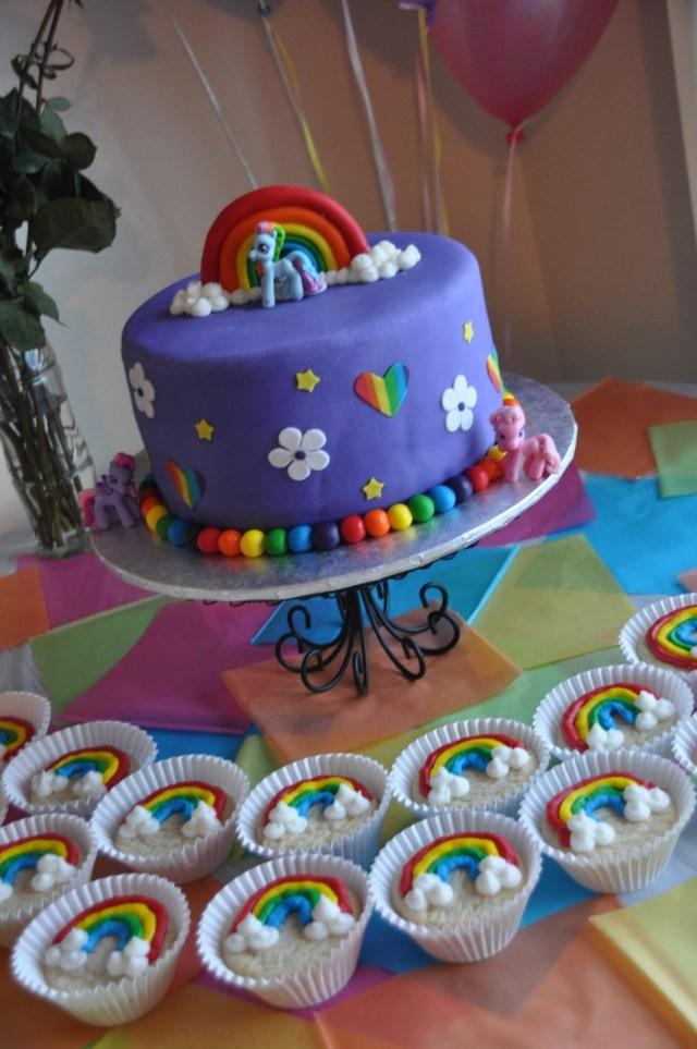 My Little Pony Birthday Cake Ideas Make A Cake Series My Little Pony Cake And Rainbow Cookies Make