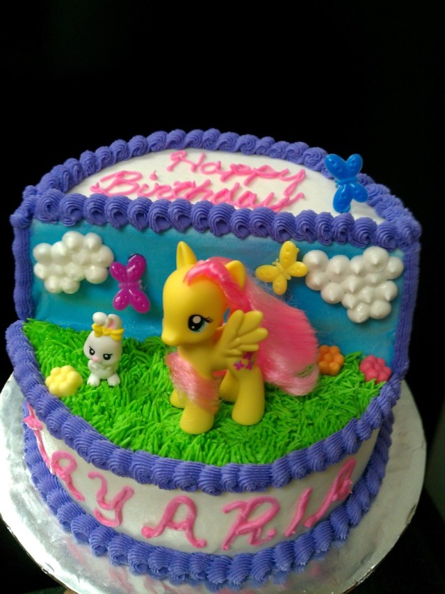 My Little Pony Birthday Cake Ideas My Little Pony Fluttershy Birthday Cake Cakecentral
