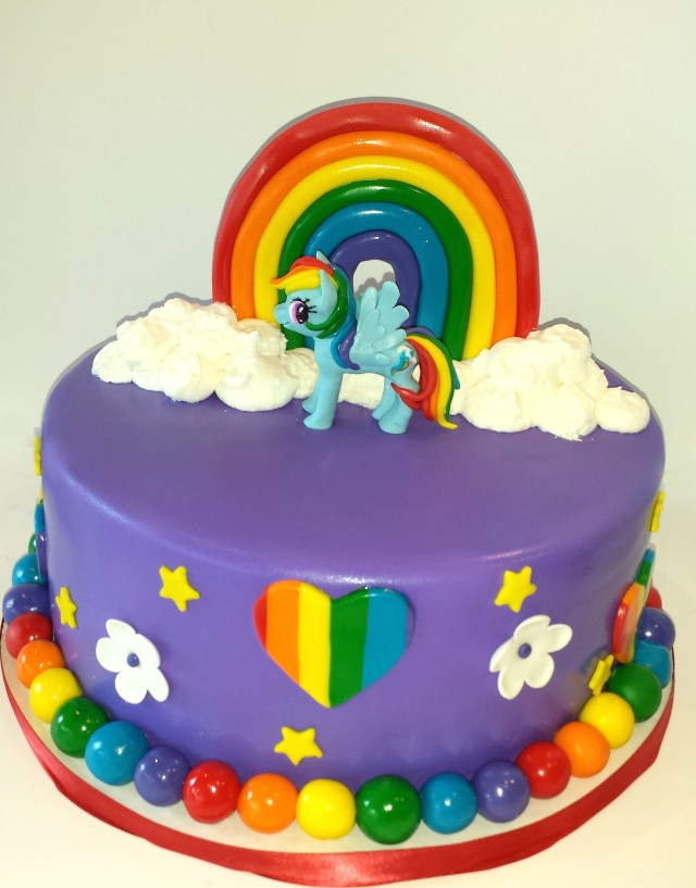 My Little Pony Birthday Cake Ideas Rainbow My Little Pony Birthday Cake Cakes Pinterest Pony Cake