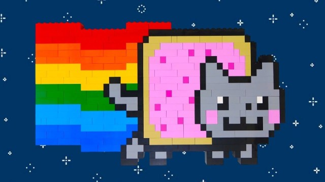 Nyan Cat Coloring Pages Lego Nyan Cat Rainbow Colors Speed Build Rainbow Splash Coloring