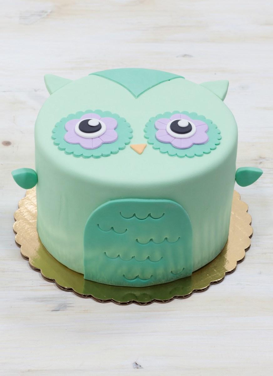 Owl Birthday Cake Olivia The Owl Cake Whipped Bakeshop