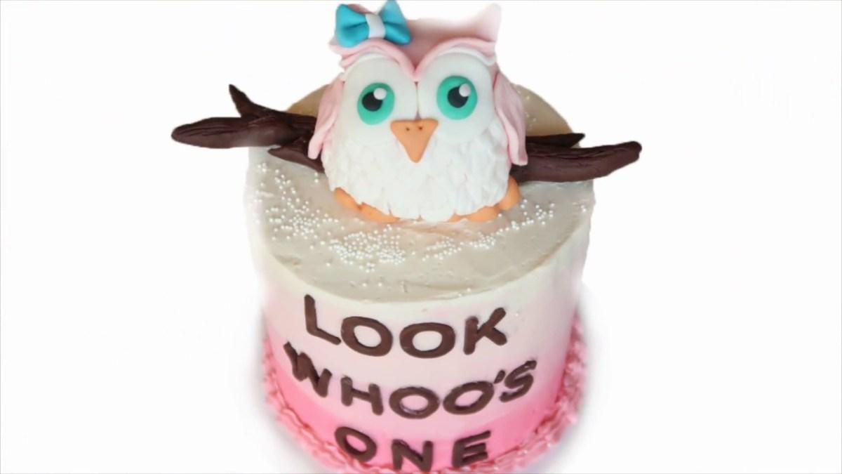 Owl Birthday Cake Owl Birthday Cake Owl Cake Topper Celebration Cake Creativity