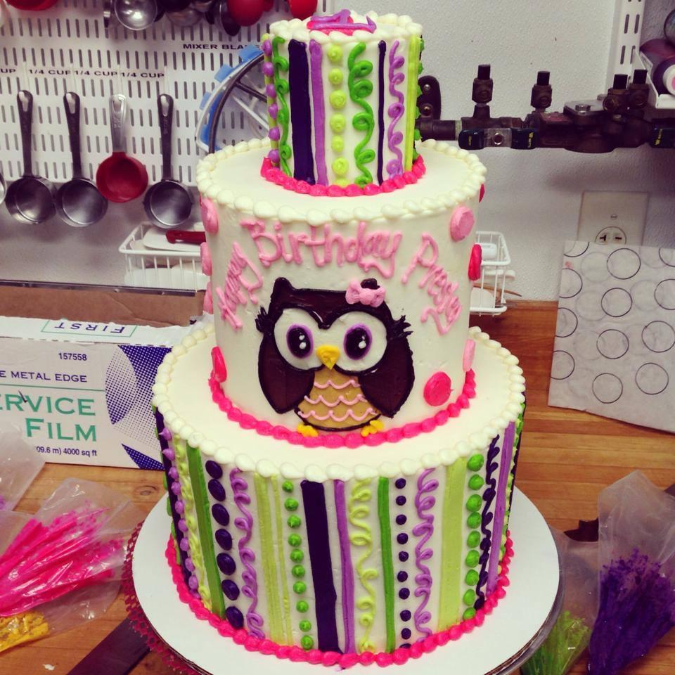 Owl Birthday Cake Purple And Green Owl Birthday Cake Hayley Cakes And Cookieshayley