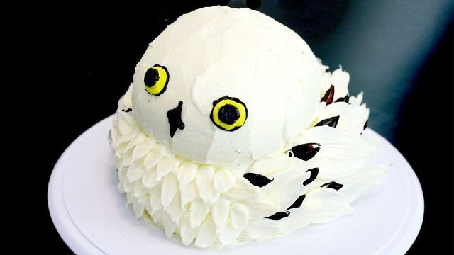 Owl Birthday Cakes How To Make A Hedwig Owl Cake From Harry Potter Recipe Youtube