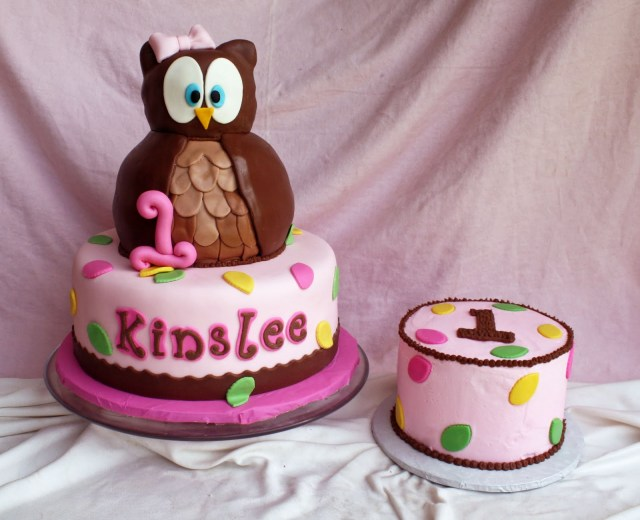 Owl Birthday Cakes Look Whoos 1 Owl Birthday Cake Smash Cake