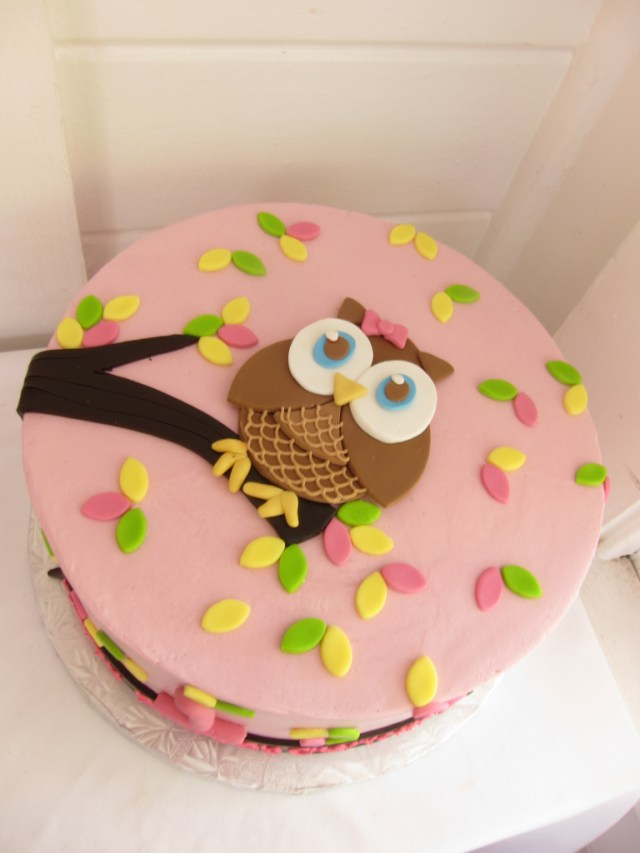 Owl Birthday Cakes Owl Birthday Cake Polkadots Olga Flickr