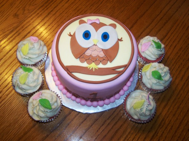 Owl Birthday Cakes Owl Birthday Cakes