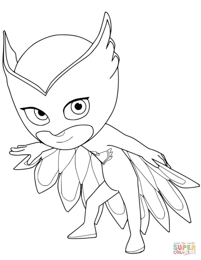 Owlette Coloring Page Owlette From Pj Masks Coloring Page Free Printable Coloring Pages