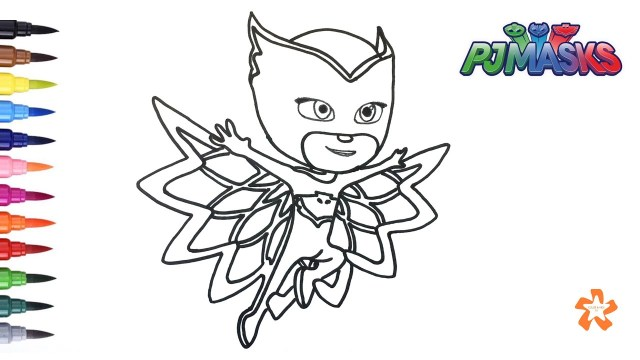 Owlette Coloring Page Pj Masks How To Color Owlette Coloring Pages For Children With