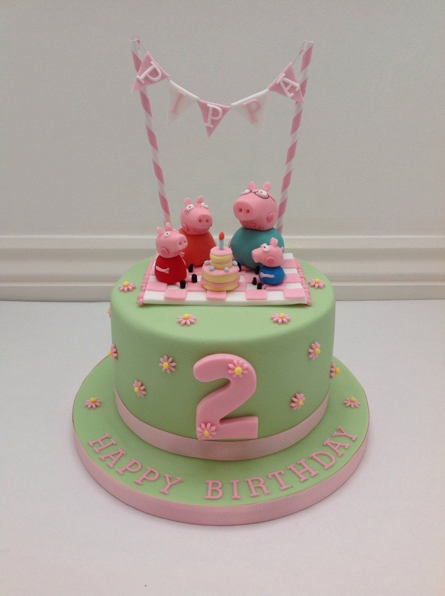 Peppa Pig Birthday Cake A Peppa Pig Picnic And Bunting Cake Fancy Fondant Party Ideas
