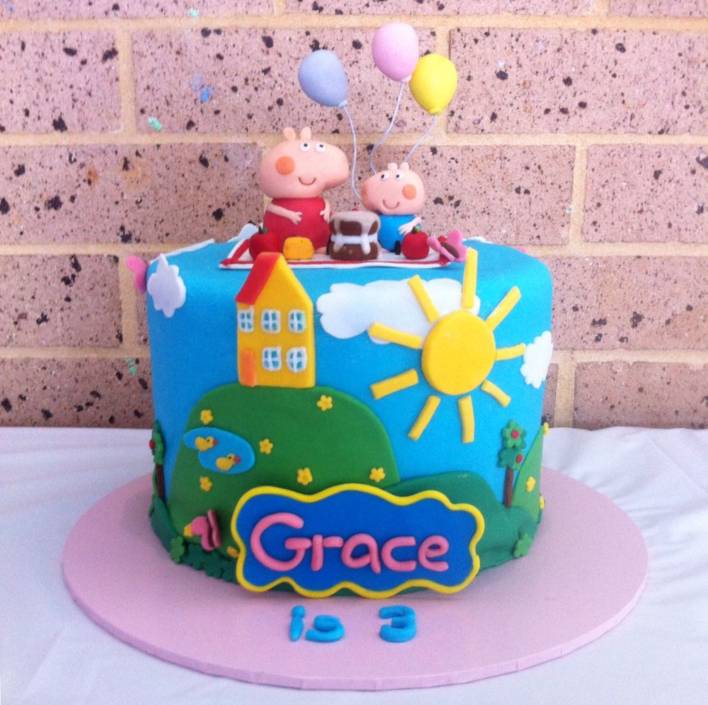 Peppa Pig Birthday Cake Peppa Pig Birthday Cake Children Birthday Cakes Pinterest