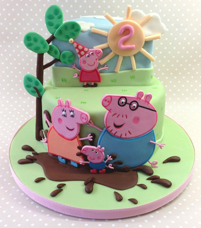 Peppa Pig Birthday Cake Peppa Pig Muddy Puddles Birthday Cake Sugarbuttons Norwich Sugar