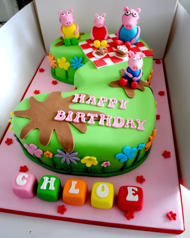 Peppa Pig Birthday Cake Peppa Pig Picnic Number Cake Cakes Pinterest Peppa Pig