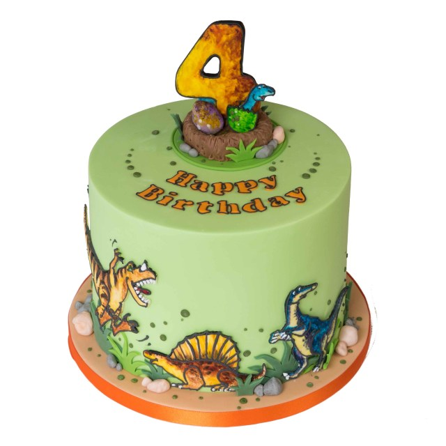 Pictures Of A Birthday Cake Dinosaur Birthday Cake
