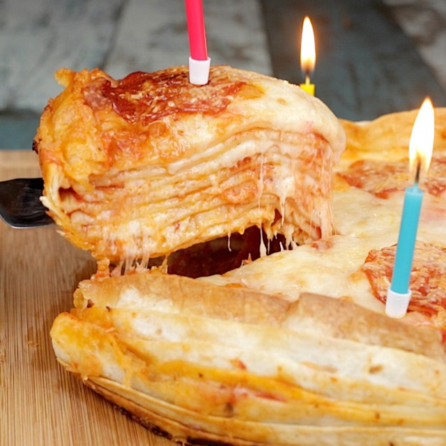 Pizza Birthday Cake Pizza Birthday Cake Twisted Food